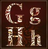 Vettore, un alfabeto del lusso (G, H) Immagine Stock Libera da Diritti