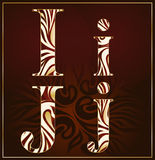 Vettore, un alfabeto del lusso (I, J) Fotografia Stock Libera da Diritti