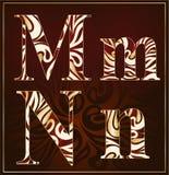 Vettore, un alfabeto del lusso (m., N) Immagini Stock Libere da Diritti