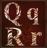 Vettore, un alfabeto del lusso (Q, R) Fotografia Stock