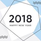 Vettore un fondo da 2018 buoni anni Immagine Stock