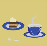 vettore. Una tazza di caffè Fotografia Stock