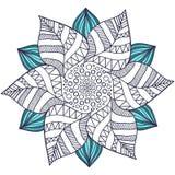 Vettore unico della mandala nello stile floreale Zentangle del cerchio per le pagine del libro da colorare Modello rotondo dell'o royalty illustrazione gratis