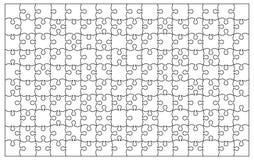 Vettore unico trasparente in bianco di puzzle della priorità bassa Immagine Stock