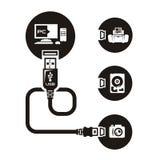 Vettore USB Fotografia Stock Libera da Diritti