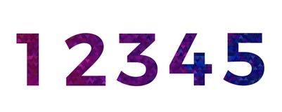Vettore variopinto astratto di numero di fonte alfabeto del triangolo Fotografia Stock