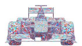 Vettore variopinto della macchina da corsa Fotografie Stock