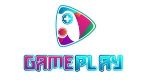 Vettore variopinto di logo del video gioco royalty illustrazione gratis