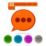 Vettore variopinto di progettazione di conversazione dell'icona su fondo bianco royalty illustrazione gratis