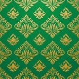 Vettore verde del modello dell'oro Fotografia Stock Libera da Diritti