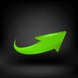 Vettore verde della freccia immagini stock