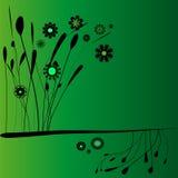 Vettore verde della priorità bassa di Floreal Fotografia Stock