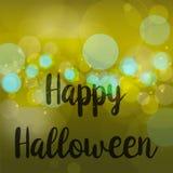Vettore verde dorato felice del fondo di Halloween della sfuocatura astratta royalty illustrazione gratis