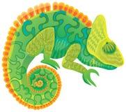 Vettore verde intenso del camaleonte illustrazione di stock