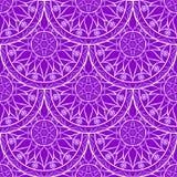 Vettore Violet Floral Mandala Pattern senza cuciture Fotografia Stock Libera da Diritti