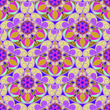 Vettore Violet Floral Mandala Pattern senza cuciture Fotografia Stock