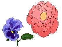Vettori dei fiori astratti Fotografie Stock Libere da Diritti