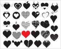 Vettori del cuore Fotografia Stock Libera da Diritti