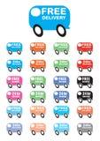 Vettori del furgone di consegna Immagine Stock Libera da Diritti