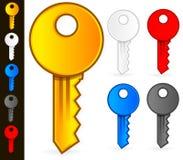 Vettori di chiavi Fotografie Stock Libere da Diritti