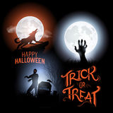 Vettori felici di Halloween Fotografia Stock Libera da Diritti