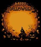 Vettori felici di Halloween Manifesti del partito di Halloween illustrazione vettoriale