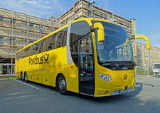 Vettura Bus Scania OmniExpress di Postbus a Chemnitz Fotografia Stock