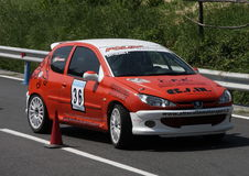 Vettura da corsa di Peugeot 206 RC Fotografie Stock Libere da Diritti