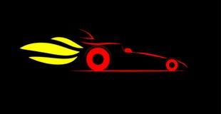 Vettura da corsa di resistenza stilizzata illustrazione vettoriale