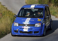 rally car fiat panda Royalty Free Stock Photos