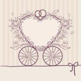 Vettura dell'invito di nozze Modello di disegno Fotografia Stock Libera da Diritti