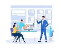 Vettura Demonstrating Learning Information di affari illustrazione di stock