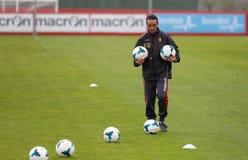 Vettura spagnola di calcio di Jose Luis Oltra alle possibilità di formazione Fotografia Stock