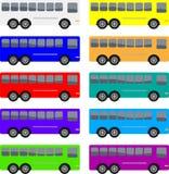 Vettura variopinta Buses Fotografia Stock Libera da Diritti