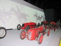 Vetture da corsa, esibite al museo nazionale delle automobili Immagini Stock