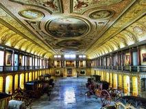 Vetture museo, Lisbona fotografia stock libera da diritti