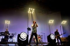Vetusta Morla wykonuje przy Sant Jordi klubu sceną (muzyczny zespół) Zdjęcia Stock