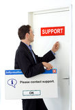 Veuillez entrer en contact avec le support. photographie stock libre de droits