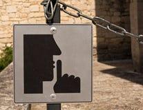Veuillez faire taire le signe image libre de droits