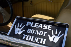 Veuillez ne pas toucher le signe Photo stock