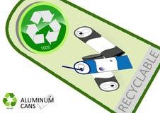 Veuillez réutiliser les bidons en aluminium illustration de vecteur