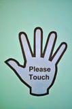 Veuillez toucher le signe Photo libre de droits