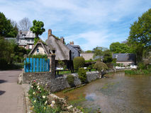 Veules-les-rozen, Normandië, Frankrijk Stock Foto's