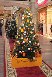Veuve Cliquot shop Christmas decoration Royalty Free Stock Photography