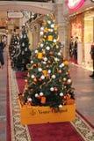 Veuve Cliquot shop Christmas decoration Royalty Free Stock Photography