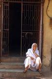 Veuve en Inde Images stock