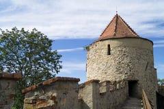 Veveri城堡塔  库存图片