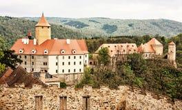 Veveri castle, Moravia, Czech republic, yellow filter Royalty Free Stock Photo