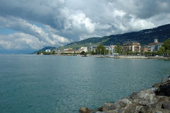 Vevey at Geneve lake in Switzerland Stock Photo