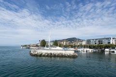 Vevey La Tour marina, Switzerland royalty free stock photo